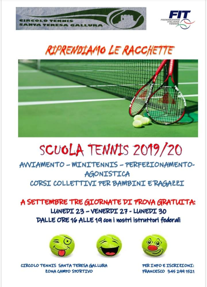 Scuola tennis 2019/20